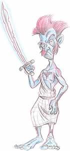 ¡Nac Mac Feegle! Observar la espada que emite un brillo azul en presencia de abogados.