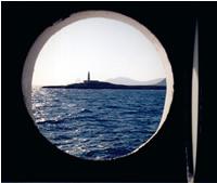 Foto tomada desde el váter del ferry