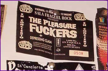 Entrada de los Pleasure Fuckers