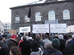 Islandia, noviembre 2008