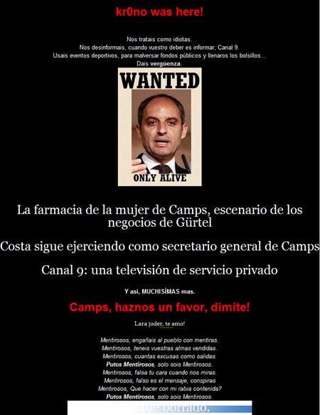 Web del PP valenciano con la cara un poco cambiada