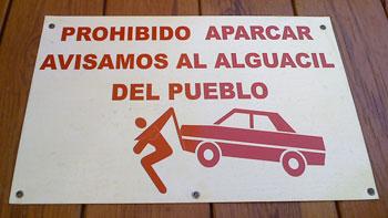 Prohibido aparcar: alguacil