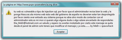 Hackeo PSOE Valencia - 2