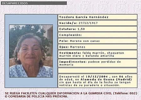 Teodora desaparecida