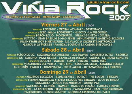 Cartel Viña Rock 2007